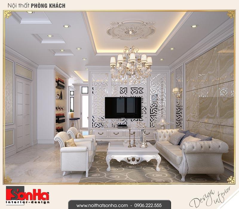 1 Thiết kế nội thất phòng khách biệt thự liền kề khu đô thị waterfront hải phòng wfc 001