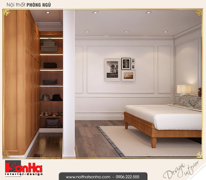 10 Mẫu nội thất khu thay đồ phòng ngủ 3 biệt thự liền kề khu đô thị waterfront hải phòng wfc 001