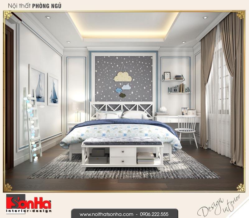 11 Thiết kế nội thất phòng ngủ con trai biệt thự tân cổ điển khu đô thị vinhomes hải phòng