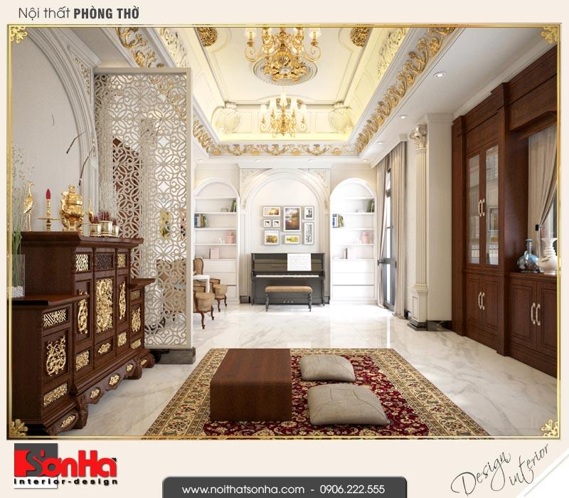 11 Thiết kế nội thất phòng thờ biệt thự tân cổ điển khu đô thị vinhomes hải phòng