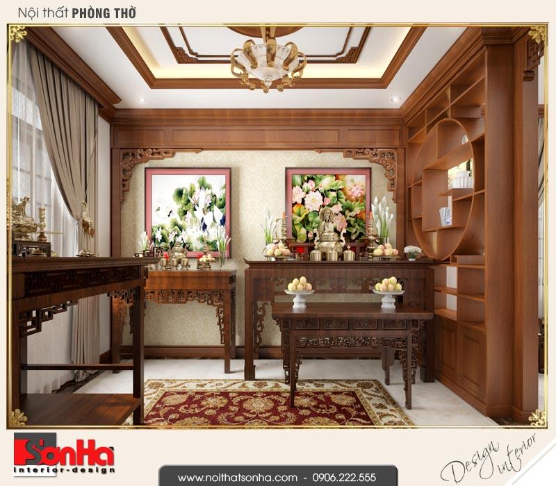 13 Thiết kế nội thất phòng thờ biệt thự tân cổ điển khu đô thị vinhomes hải phòng