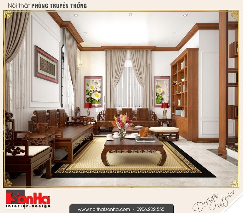 14 Mẫu nội thất phòng truyền thống biệt thự tân cổ điển khu đô thị vinhomes hải phòng