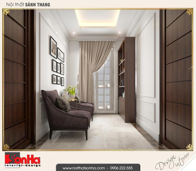 15 Thiết kế nội thất sảnh thang tầng 2 biệt thự tân cổ điển khu đô thị vinhomes hải phòng