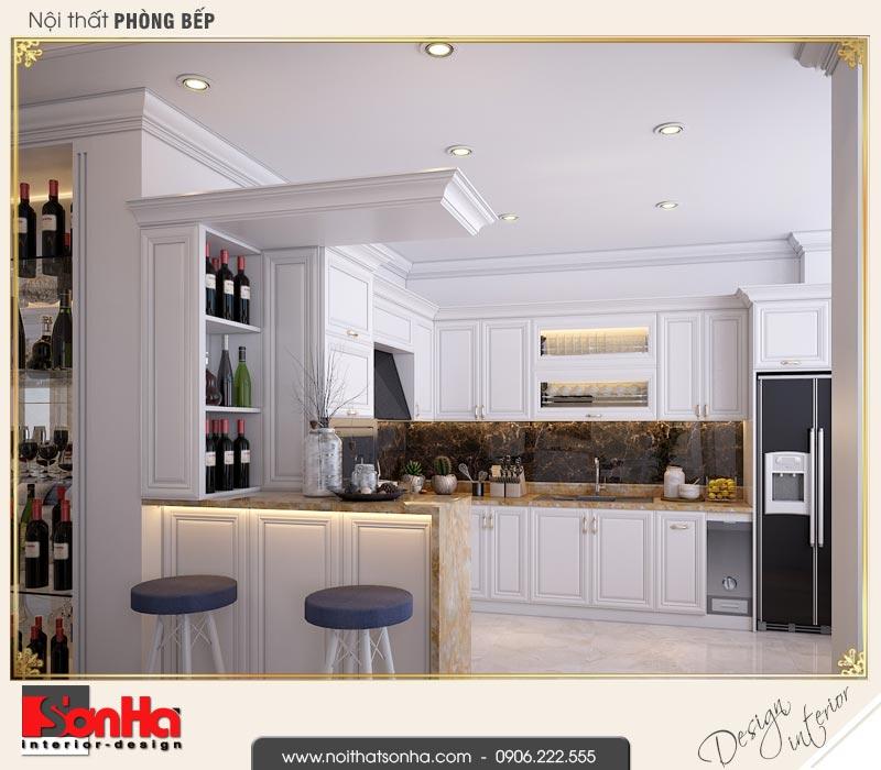 3 Thiết kế nội thất phòng bếp ăn biệt thự liền kề 5 tầng khu đô thị waterfront hải phòng wfc 001