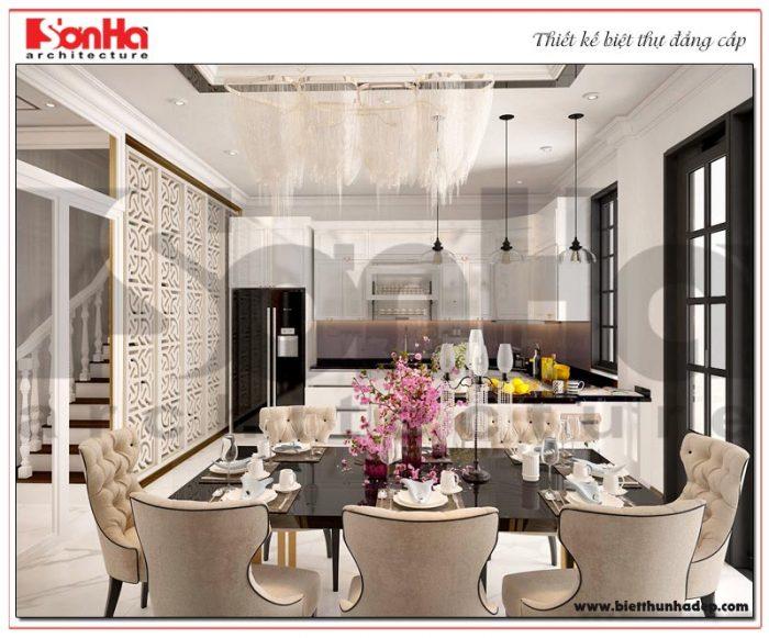 4 Mẫu nội thất phòng bếp ăn biệt thự tân cổ điển 4 tầng khu đô thị vinhomes hải phòng vhi 0001