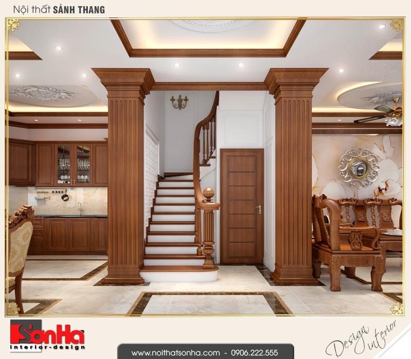 4 Mẫu thiết kế nội thất sảnh thang biệt thự tân cổ điển khu đô thị vinhomes hải phòng