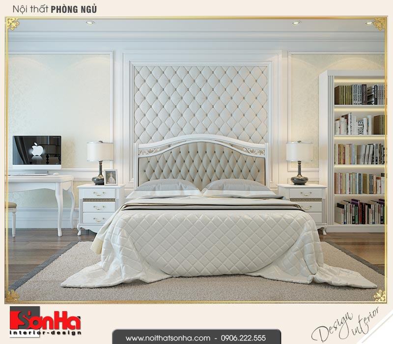 5 Thiết kế nội thất phòng ngủ 1 biệt thự liền kề khu đô thị waterfront hải phòng wfc 001