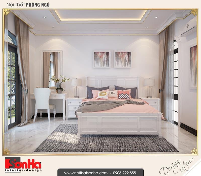 5 Thiết kế nội thất phòng ngủ 1 biệt thự tân cổ điển khu đô thị vinhomes hải phòng