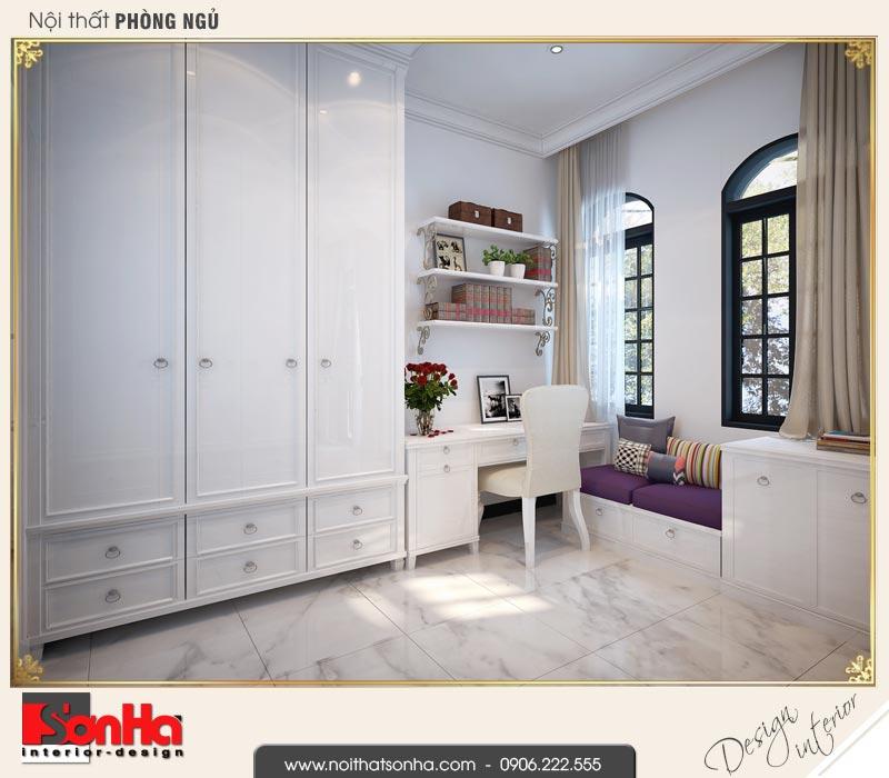 6 Mẫu thiết kế nội thất phòng ngủ 1 biệt thự tân cổ điển khu đô thị vinhomes hải phòng