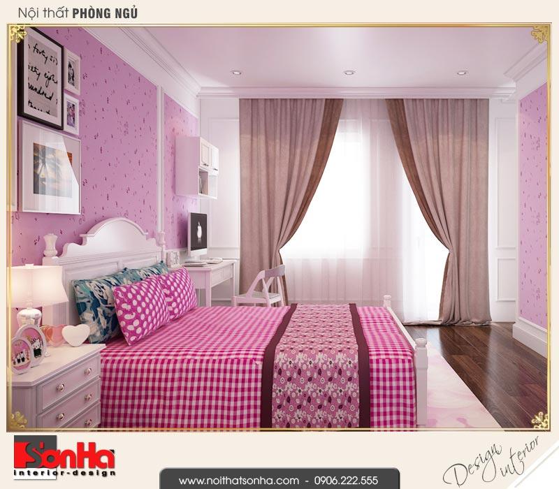 7 Thiết kế nội thất phòng ngủ 2 biệt thự liền kề 5 tầng khu đô thị waterfront hải phòng wfc 001