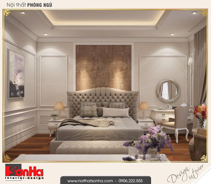 7 Thiết kế nội thất phòng ngủ 2 biệt thự tân cổ điển khu đô thị vinhomes hải phòng vhi 0001