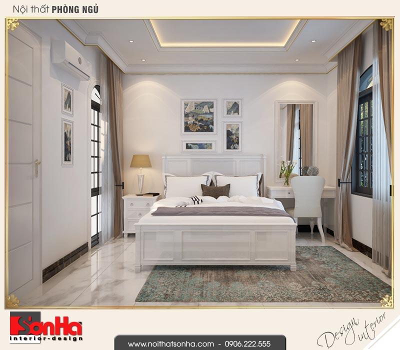 7 Thiết kế nội thất phòng ngủ 2 biệt thự tân cổ điển khu đô thị vinhomes hải phòng