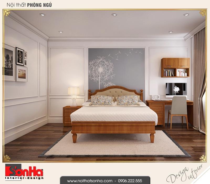 9 Thiết kế nội thất phòng ngủ 3 biệt thự liền kề khu đô thị ven sông lạch tray hải phòng wfc 001