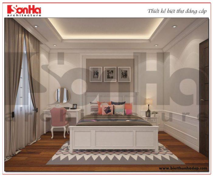 9 Thiết kế nội thất phòng ngủ 3 biệt thự tân cổ điển khu đô thị vinhomes hải phòng vhi 0001