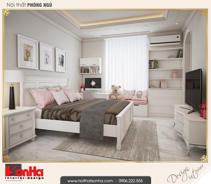 9 Thiết kế nội thất phòng ngủ 3 biệt thự tân cổ điển khu đô thị vinhomes hải phòng
