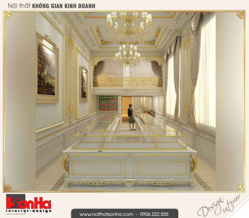 1 Thiết kế nội thất nhà ống cổ điển đep tại vĩnh phúc sh nop 0163