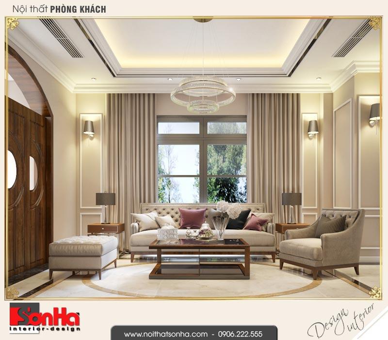1 Thiết kế nội thất phòng khách biệt thự song lập khu đô thị vinhomes hải phòng vhi 0002