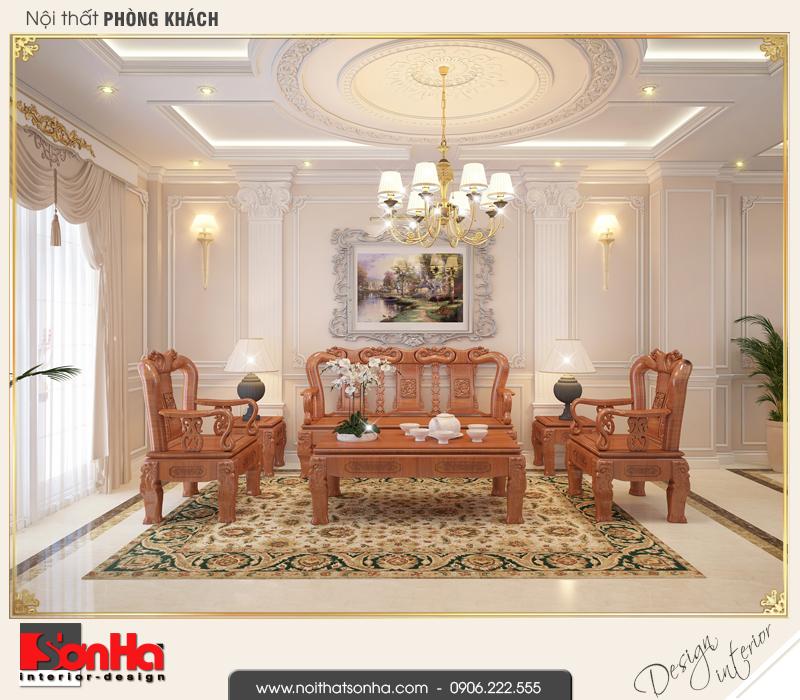 1 Thiết kế nội thất phòng khách nhà ống cổ điển đẹp tại sài gòn sh nop 0165