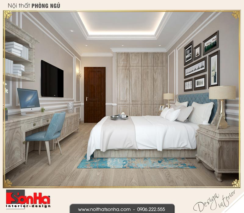 10 Mẫu nội thất phòng ngủ 3 biệt thự tân cổ điển khu đô thị vinhomes hải phòng vhi 0002
