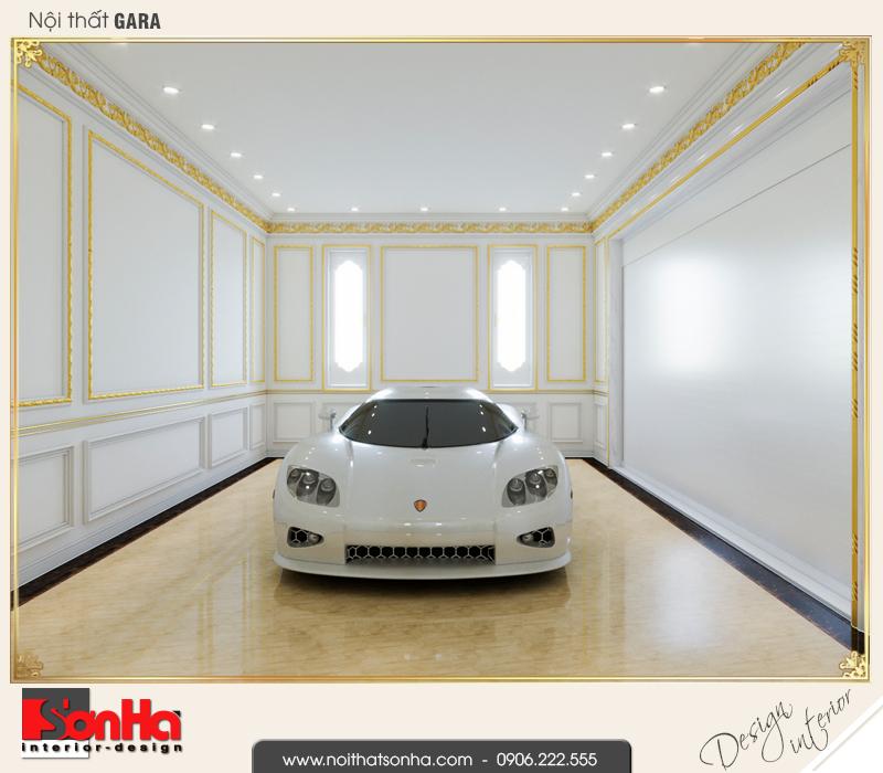 11 Thiết kế nội thất gara nhà ống cổ điển tại vĩnh phúc sh nop 0163