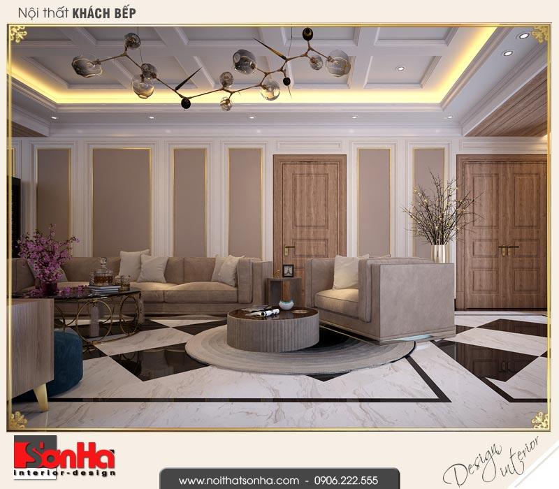 11 Thiết kế nội thất phòng khách bếp khách sạn 3 sao tại vũng tàu sh ks 0051