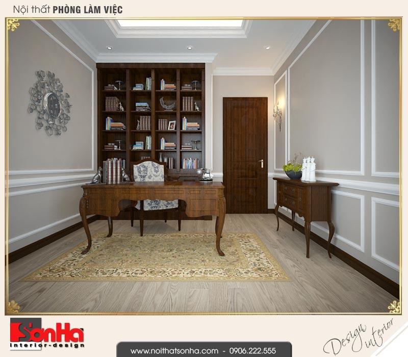 11 Thiết kế nội thất phòng làm việc biệt thự song lập khu đô thị vinhomes hải phòng vhi 0002