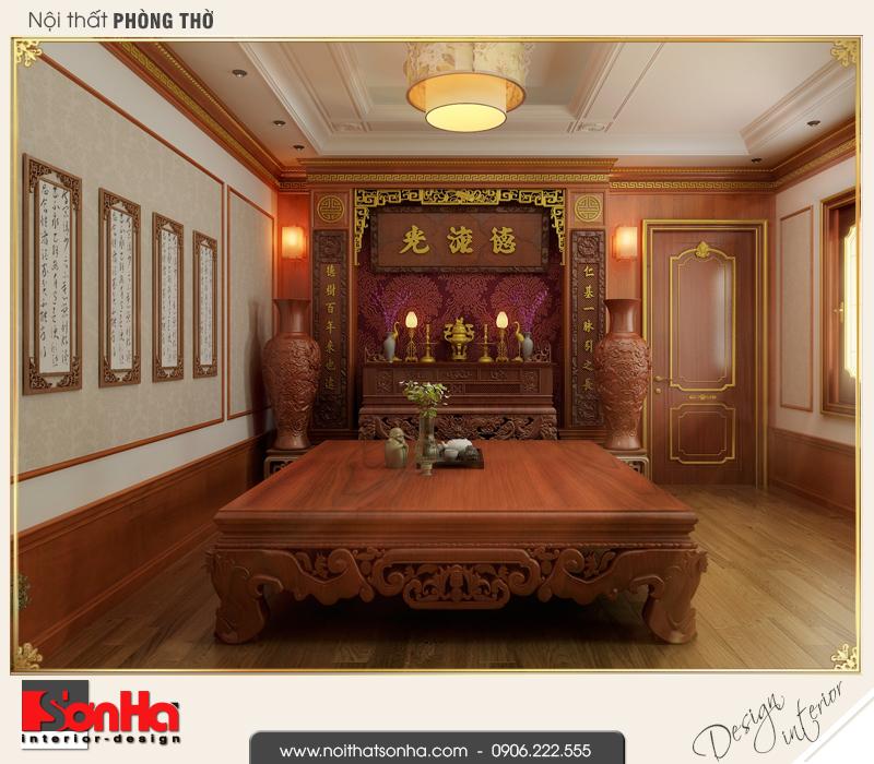 12 Mẫu nội thất phòng thờ nhà ống phong cách châu âu tại vĩnh phúc sh nop 0163