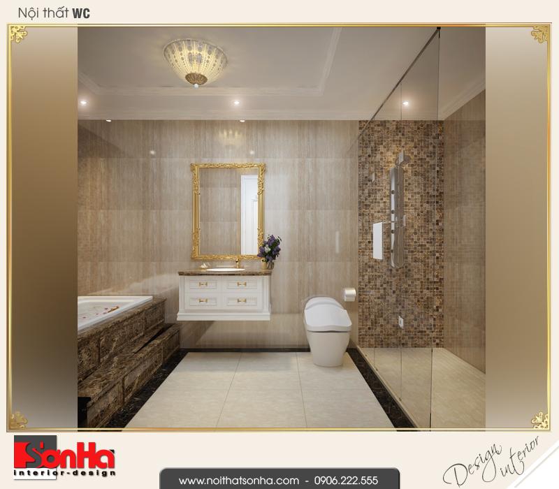 14 Mẫu nội thất phòng tắm wc nhà ống pháp kết hợp kinh doanh tại vĩnh phúc sh nop 0163