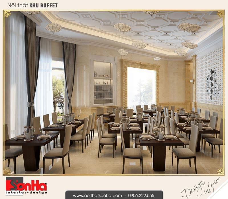 3 Thiết kế nội thất khu buffet khách sạn 3 sao tại vũng tàu sh ks 0051
