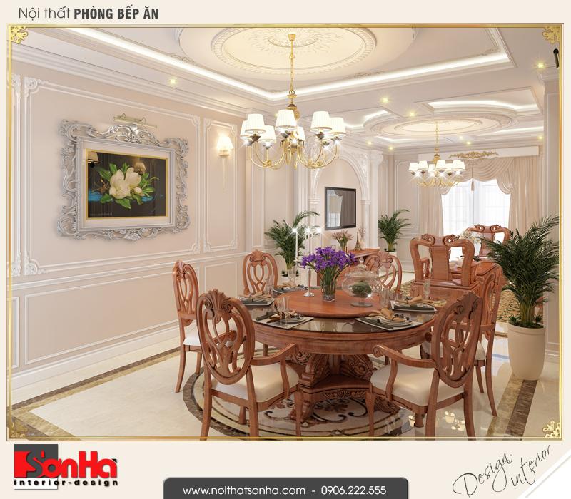 3 Thiết kế nội thất phòng ăn nhà ống phong cách châu âu tại sài gòn sh nop 0165
