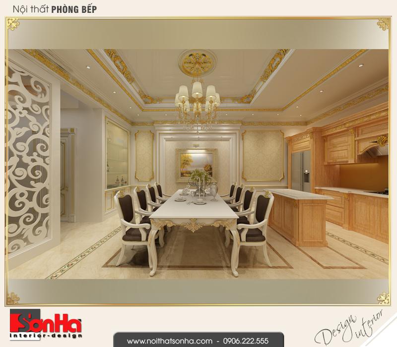 4 Mẫu nội thất phòng bếp ăn nhà ống phong cách châu âu tại vĩnh phúc sh nop 0163