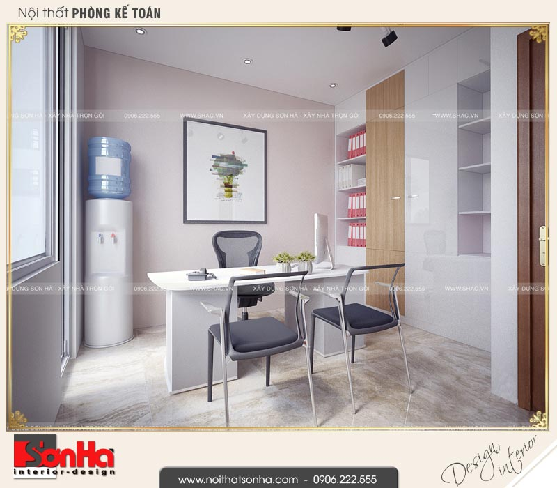 5 Thiết kế nội thất phòng kế toán nhà phố liền kề khu đô thị waterfront hải phòng wfc 0002