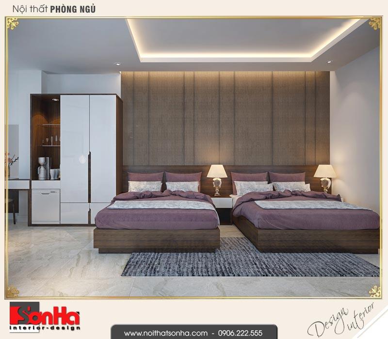 5 Thiết kế nội thất phòng ngủ đôi khách sạn 3 áo tại vũng tàu sh ks 0051