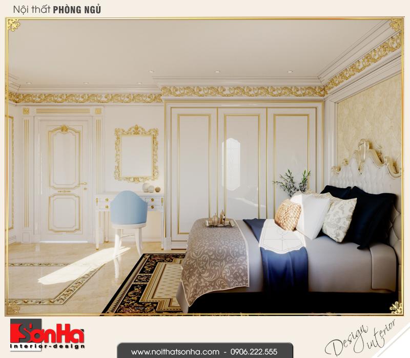 7 Thiết kế nội thất phòng ngủ tầng lửng nhà ống pháp tại vĩnh phúc sh nop 0163