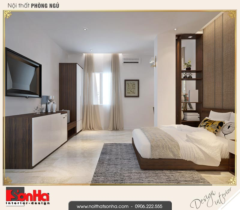 8 Mẫu thiết kế phòng ngủ đơn khách sạn 3 sao tại vũng tàu sh ks 0051