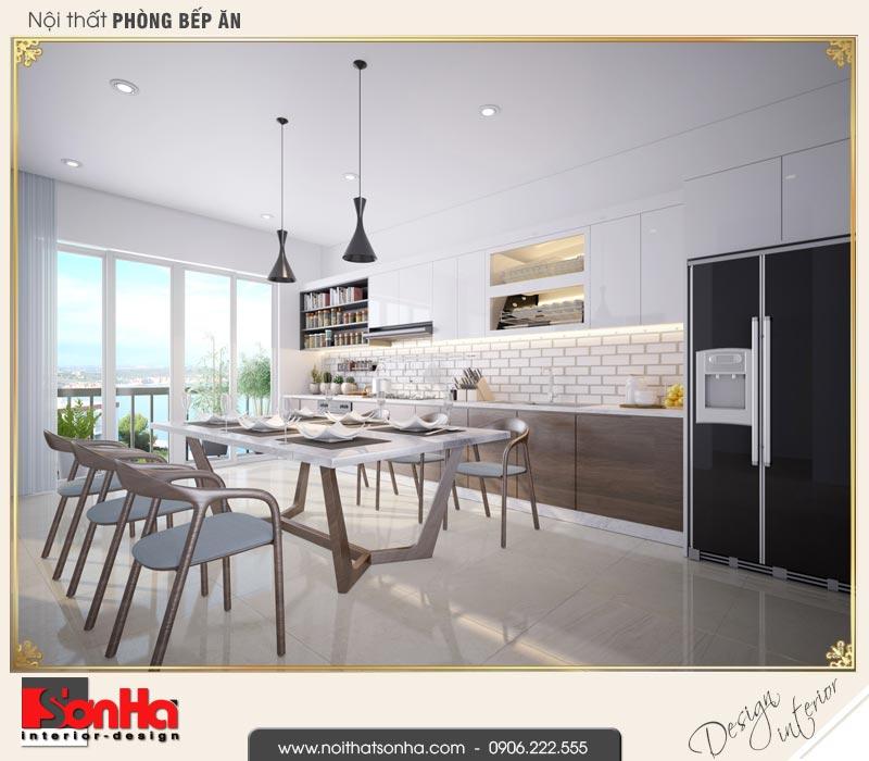 9 Thiết kế nội thất phòng bếp ăn nhà phố liền kề khu đô thị waterfront hải phòng wfc 0002