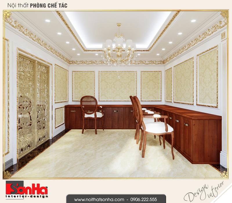9 Thiết kế nội thất phòng chế tác nhà ống kết hợp kinh doanh tại vĩnh phúc nop 0163