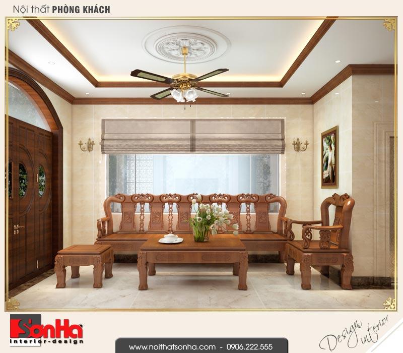 1 Thiết kế nội thất phòng khách biệt thự tân cổ điển khu đô thị vinhomes hải phòng vhi 0003