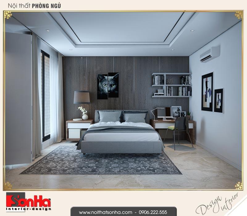 11 Thiết kế nội thất phòng ngủ con trai nhà ống hiện đại tại 4 tầng tại hải phòng sh nod 0187