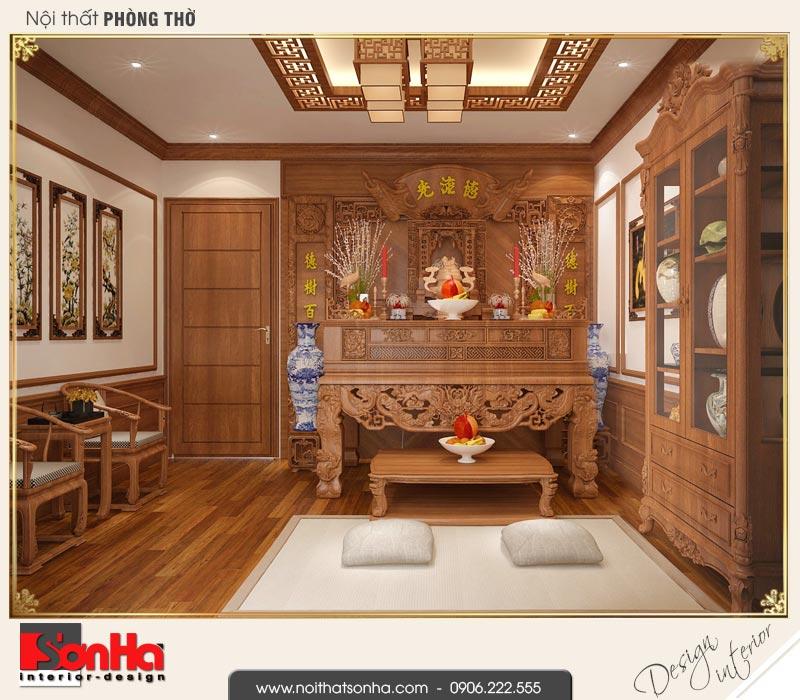 11 Thiết kế nội thất phòng thờ nhà ống cổ điển 3 tầng tại hải phòng sh nop 0159