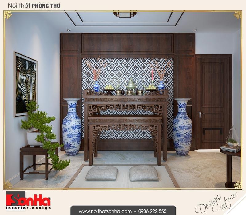 13 Thiết kế nội thất phòng thờ nhà ống hiện đại đẹp tại hải phòng sh nod 0187