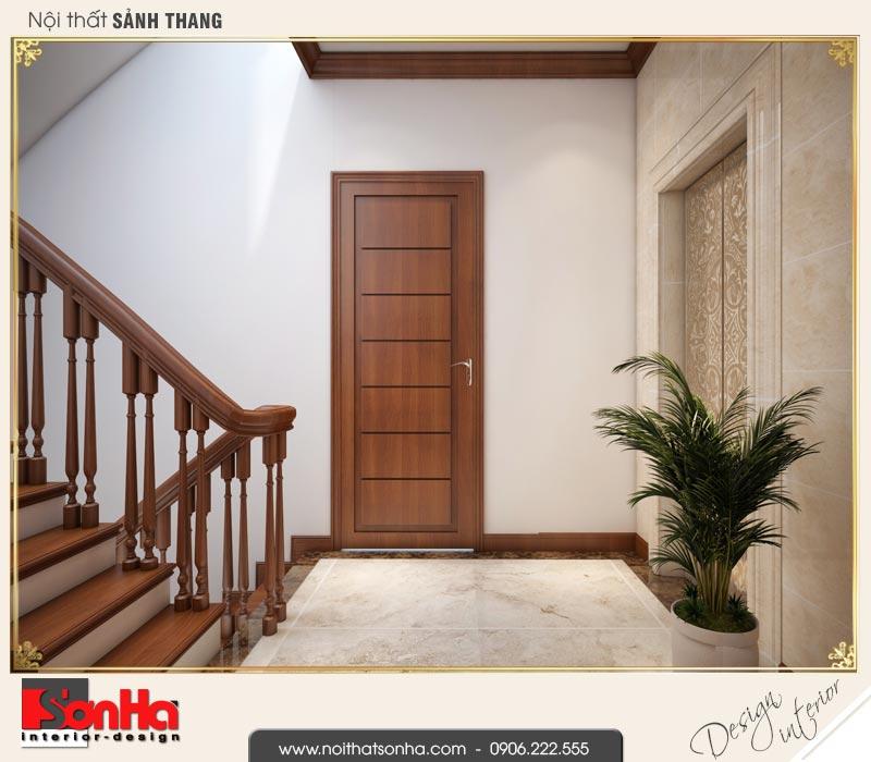 16 Thiết kế nội thất sảnh thang tầng 2 3 4 biệt thự tân cổ điển khu đô thị vinhomes hải phòng vhi 0003