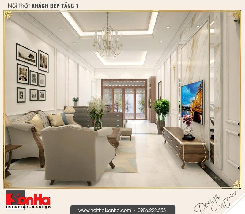 3 Mẫu nội thất phòng khách nhà ống cổ điển 4 tầng tại hà nội sh nop 0169