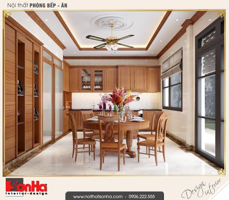 3 Thiết kế nội thất phòng bếp ăn biệt thự tân cổ điển khu đô thị vinhomes hải phòng vhi 0003