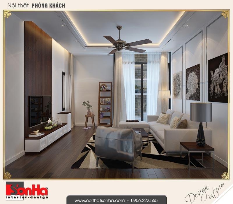 3 Thiết kế nội thất phòng khách nhà ống hiện đại mặt tiền 4,9m tại hải phòng sh nod 0187