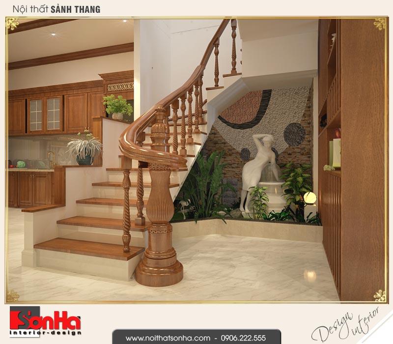 4 Mẫu nội thất sảnh thang nhà ống cổ điển đẹp tại hải phòng sh nop 0159