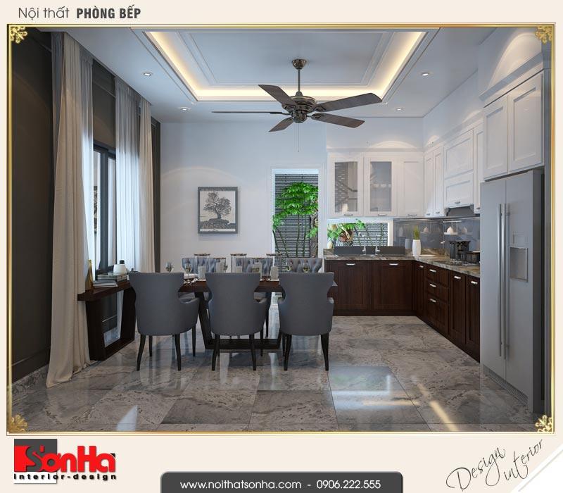 5 Thiết kế nội thất phòng bếp ăn nhà ống hiện đại 4 tầng tại hải phòng sh nod 0187