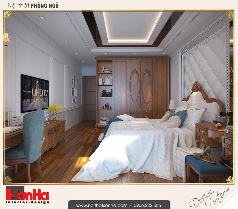 6 Mẫu nội thất phòng ngủ 1 nhà ống cổ điển 3 tầng tại hải phòng sh nop 0159
