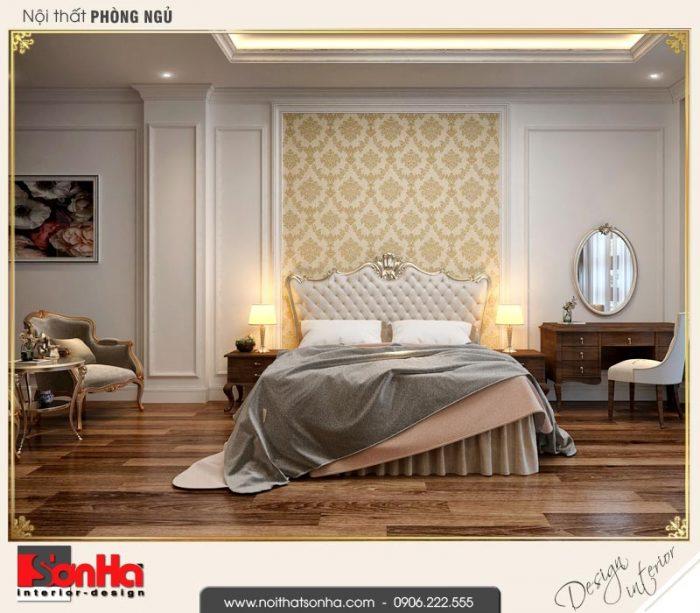 6 Thiết kế nội thất phòng ngủ lớn nhà ống cổ điển 4 tầng tại hà nội sh nop 0169