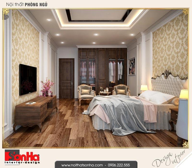 7 Mẫu nội thất phòng ngủ lớn nhà ống kiến trúc pháp đẹp tại hà nội sh nop 0169